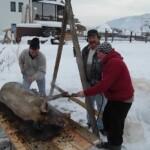 tăierea porcului în ajunul Crăciunului